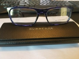Burberry B2240 RX Eyeglass Frame COLOR 3626 Blue 55-18-145 Made in Italy... - $88.11