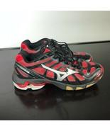 Mizuno Wave Lightning RX2 Women Sz 8.5 Volleyball Shoes Red/Black - $22.77