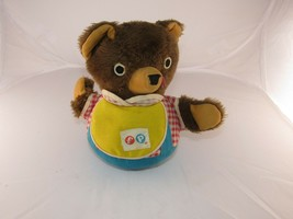 Fisher Price Vintage Roly Poly Teddy Bear Chime Musical Baby Toy 719 - $6.96