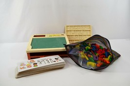 Fisher Price School Days Portable Play Desk Letters Stencils 1972 USA Vtg - $29.02