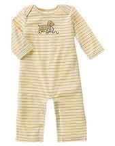 Favorite Toys 2007 Gymboree NWT Striped Fleece Dog Romper 6- 12  mos - $11.20