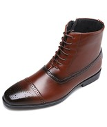 Italy Handmade Classic Men Boots High Quality(Brown 9) - $40.72