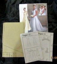 Vogue Sewing Pattern Bridal Original Wedding Dress V2788 Uncut FF 6 8 10  - $19.99