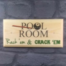Pool Room - Plaque / Sign / Gift - Rack Shed Garage Dad Snooker Games Ba... - $12.14