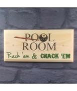 Pool Room - Plaque / Sign / Gift - Rack Shed Garage Dad Snooker Games Ba... - $12.14