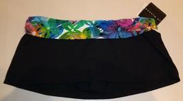 La Blanca Size 10 C30934B1 Black New Womens Bikini Bottom Swim Skirt Swi... - $58.41