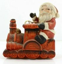 Vintage Antique 1930s-1940s Ceramic Santa On Train Christmas Figurine RO... - $19.25