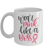 Breast Cancer Awareness Pink Ribbon Novelty Ceramic Coffee Mug - Wear Pi... - $14.95+