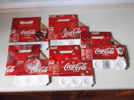 5 Coca-Cola Christmas Cardboard 6 Pack Bottle Carrier 1996 2000 2004 200... - $7.75