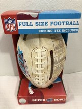 2008 NFL New York Giants Superbowl XLII Full Sized Football and Tee - $39.59