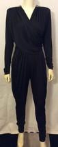 VTG CLIMAX BY DAVID HOWARD Black Silesta Draped Jumpsuit W/Rhinestones S... - $57.90