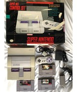 ☆ Super Nintendo Entertainment System Console Bundle NEAR Complete in Bo... - $135.00