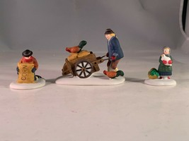 Harvest Seed Cart New England Christmas Village Vintage Accessory from 1993 - $27.44