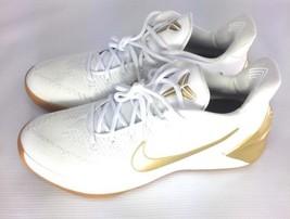 Gold Nike Air Stage White AD and 107 Metallic AD Big 5 Bryant Kobe 10 Gum 852425 TzdqwrT