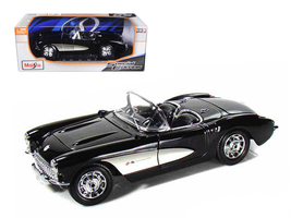 1957 Chevrolet Corvette Black 1/18 Diecast Model Car by Maisto - $65.99