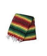 Hand Woven Acrylic Mexican Blanket (Rasta) - £9.92 GBP