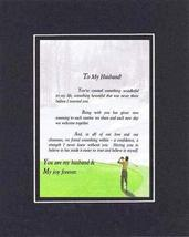 Touching and Heartfelt Poem for Loving Partners - To My Husband Poem on 11 x 14  - $19.95