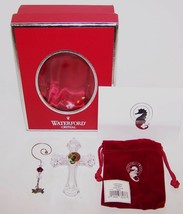 STUNNING 2005 WATERFORD CRYSTAL CLARE CROSS CHRISTMAS ORNAMENT IN BOX - $43.55