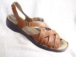 Naturalizer Craft Women's 7.5 M Brown Leather Sling Back Cross Straps Sa... - $15.76