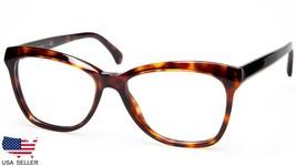 New Chanel Ch 3353 c.1580 Dark Red Havana Eyeglasses Frame 54-16-140 B40mm Italy - $240.09