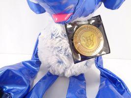 Tubular Blue Elephant Kamar Skoodlez 2008 beanbag plush With Sealed Coin image 3