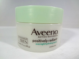 Aveeno - Positively Radiant Overnight Hydrating Facial Moisturizer - 1.7... - $14.03