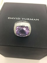 David Yurman 925 17mm Lavender Diamonds Albion Ring Sz 7 - $554.28