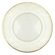 Set/12 GILT 24K Gold Rim Hammered Glass Charger Plate - $256.41