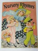 Vintage 1939 Nursery Rhymes Book Merrill Publishing # 3467 Florence Salter  - $9.89
