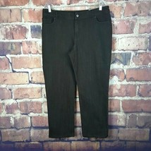 Chico's Platinum Slim Leg Jeans Womens Size 2.5 Short Ultimate Fit Brown... - $32.66