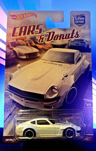 Hot Wheels Car Culture Cars and & Donuts Custom Datsun 240Z White w/Real... - $6.88