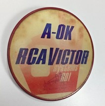 RCA Victor A-OK All Systems Go! Slogan Pin Lenticular Changing 2 Way Picture - $29.69