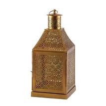 Metal Lantern, Oracle Gold Floor House Porch Portable Outdoor Lanterns - $49.49