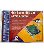NEW IN BOX SIIG USB 2.0 PCI 5-port Adapter Card TK9910 - $24.74