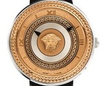 Versace VLC020014 V-metal Icon Gold IP Steel Ladies Watch - $54.993,00 MXN