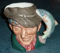 LARGE The Poacher Royal Doulton Toby Jug D6429 FISHERMAN COLLECTIBLE GIFT! - $96.03