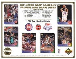 Detroit Pistons 1993 NBA Draft Shaquille O'Neal LTD Upper Deck 8 x 11 ca... - $5.18