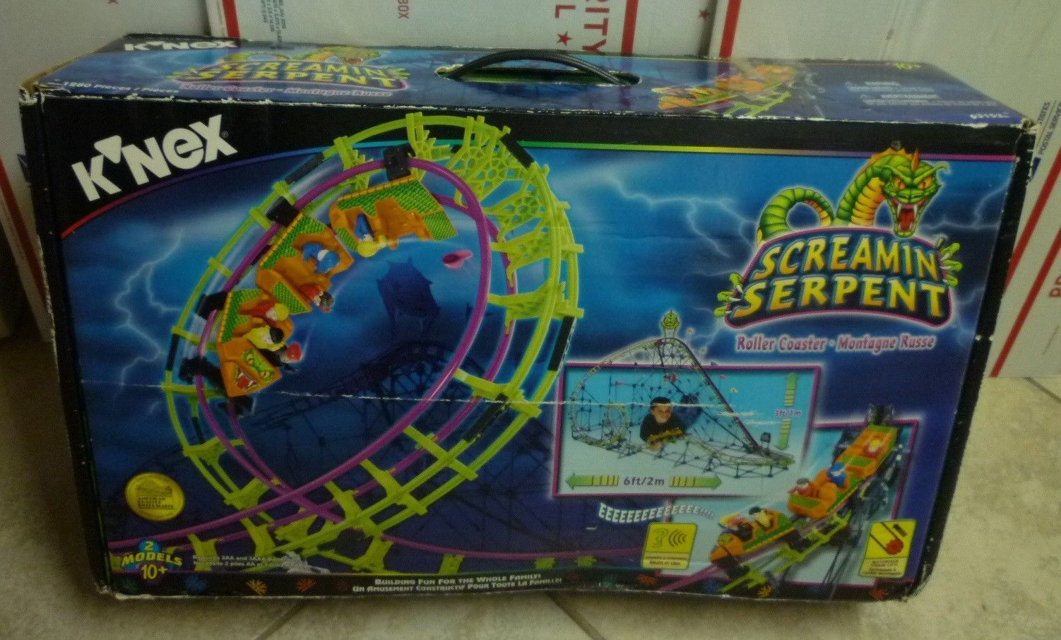 KNEX Screamin Serpent ROLLER COASTER CARS w//3 People Parts//Pieces Screaming Lot