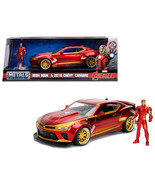 2016 Chevrolet Camaro with Iron Man Diecast Figure Marvel Series 1/24 Di... - $48.85
