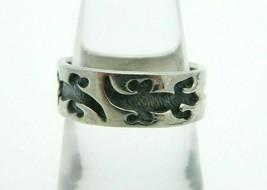.925 Sterling Silver Lizard Iguana Band Ring Size 6.5 Vintage - $39.59