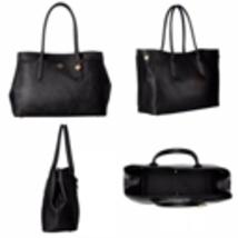 NWT COACH Black Crossgrain Leather Bailey Carryall Purse Bag 24218 $295 - $199.95