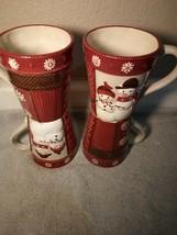 (4) ST NICHOLAS SQUARE COFFEE MUGS / CUPS --WARM WISHES---FREE SHIP-VGC - $35.28