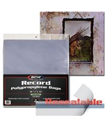 Case (1000) BCW 33 1/3 RPM RESEALABLE Sleeves Archival Poly Bags Record ... - $125.21