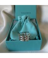 Tiffany & Co. 18k Gold & Sterling Silver Gatelink Ring~Size 7~7.5~B&P~EU... - $250.00