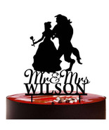 Buythrow® Beauty And The Beast Wedding Cake Topper Personalized Wedding ... - $26.41