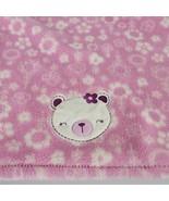 Baby Gear Girl Pink Plush Fleece Flower Teddy Bear Blanket - $59.39