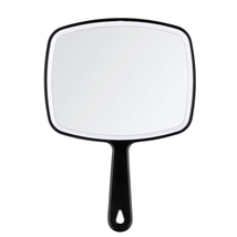 Hand Mirror Salon Barber Hairdressing Handheld Mirror With Handle Black NEW - $9.20