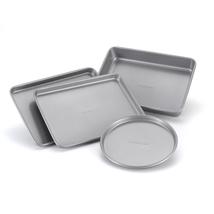 Non Stick Bakeware Set Toaster Oven Pans Home Kitchen Cake Gray Baking C... - $13.20