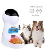 Automatic Pet Feeder, Dogs Cats Food Dispenser with Voice Record Remind,... - $59.08
