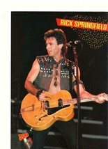 Rick Springfield Michael Jackson teen magazine pinup clipping 1980's ope... - $1.50